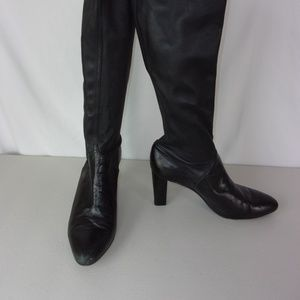 Cole Haan Shoes - Cole Haan Heeled Boots Black Leather 10.5